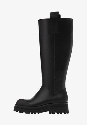 MIT GUMMIERTEM FINISH - Boots - black