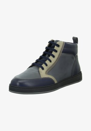 Lace-up ankle boots - blue-grey