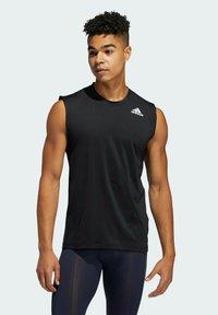 adidas Performance - TURF SL T PRIMEGREEN TECHFIT TRAINING WORKOUT SLEEVELESS T-SHIRT - Sports shirt - black - 0