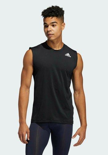 TURF SL T PRIMEGREEN TECHFIT TRAINING WORKOUT SLEEVELESS T-SHIRT - Sports shirt - black