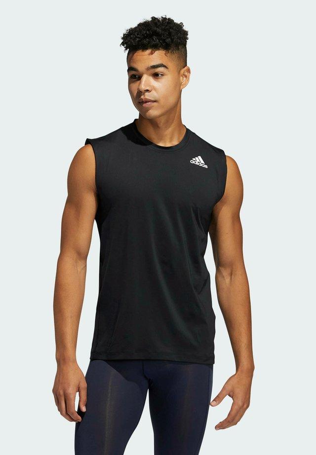 TURF SL T PRIMEGREEN TECHFIT TRAINING WORKOUT SLEEVELESS T-SHIRT - Sportshirt - black