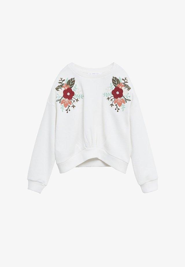 FLORI - Sweatshirt - bianco sporco