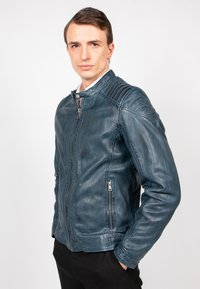 Freaky Nation - BLUERACY - Leather jacket - true navy - 1