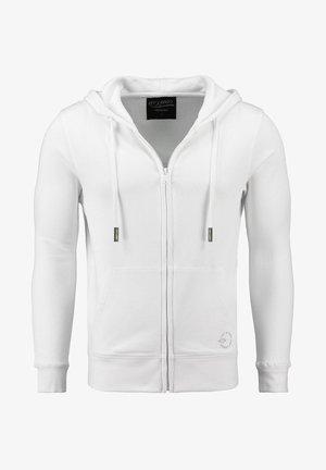 Zip-up sweatshirt - weiss