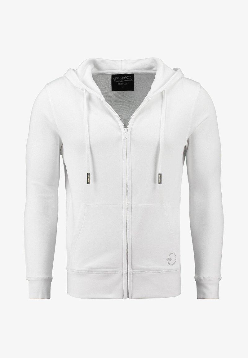 Key Largo - Zip-up sweatshirt - weiss