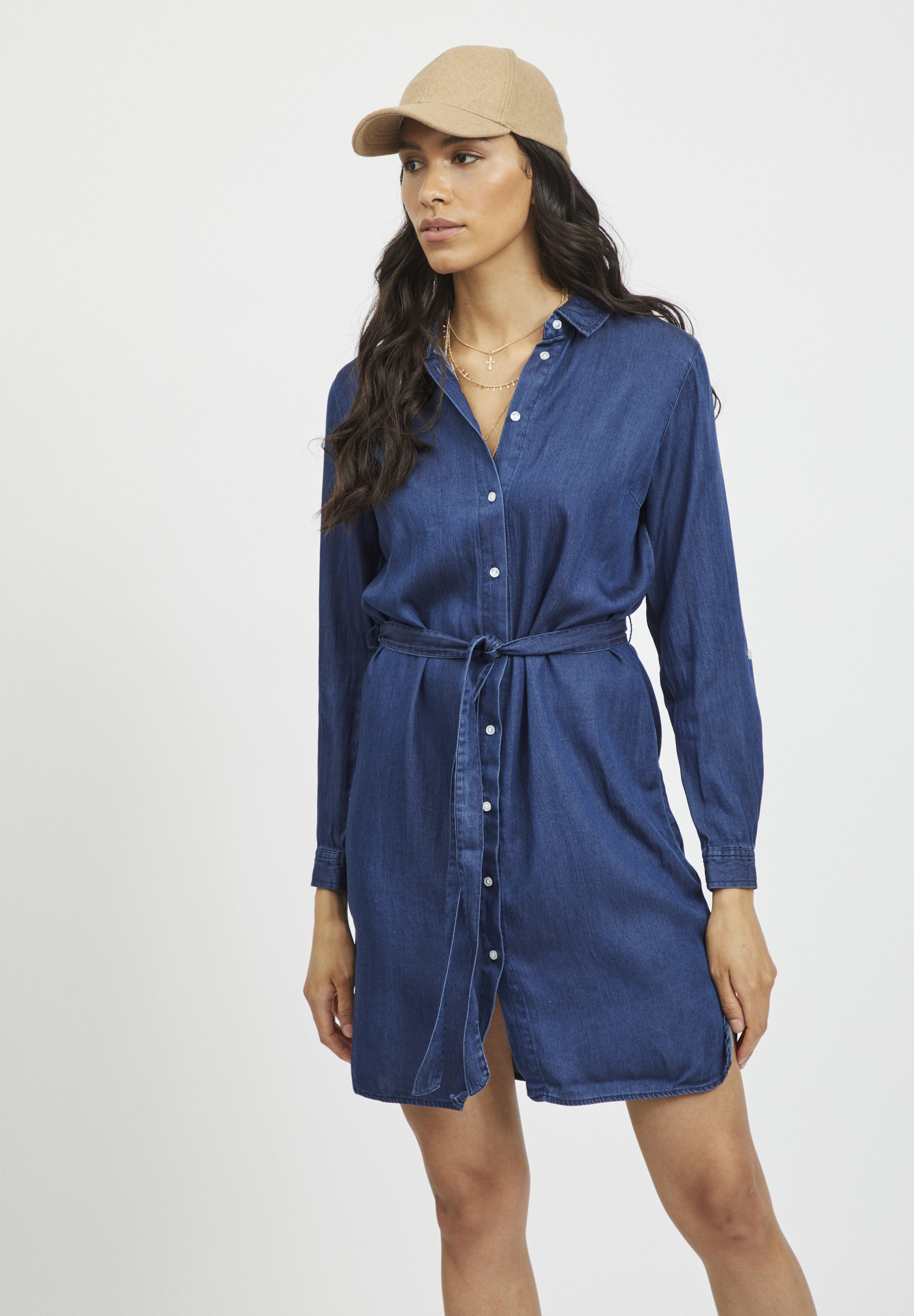 Women VIBISTA BELT DRESS - Denim dress