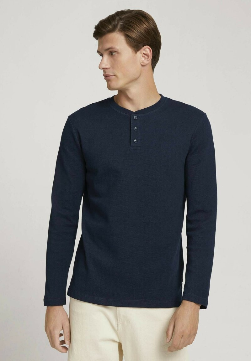 TOM TAILOR DENIM - Long sleeved top - sky captain blue