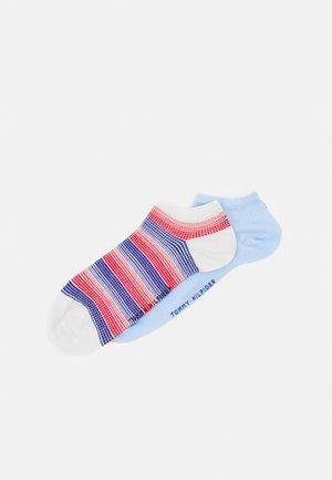 WOMEN SNEAKER GRADIENT CHECK 2 PACK - Socks - blue