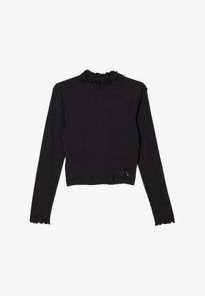 MIT SCHRIFT - Long sleeved top - black