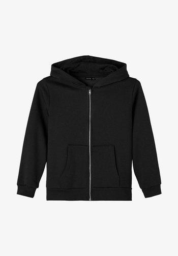 LANGÄRMELIGES - Sweater met rits - black