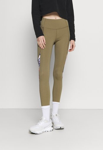 Tights - covert green