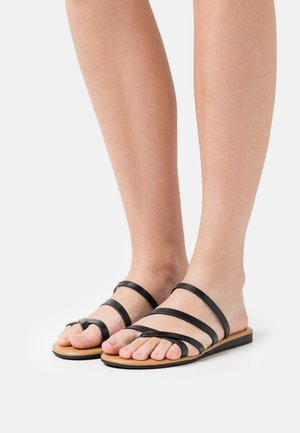 ADVENA - T-bar sandals - black