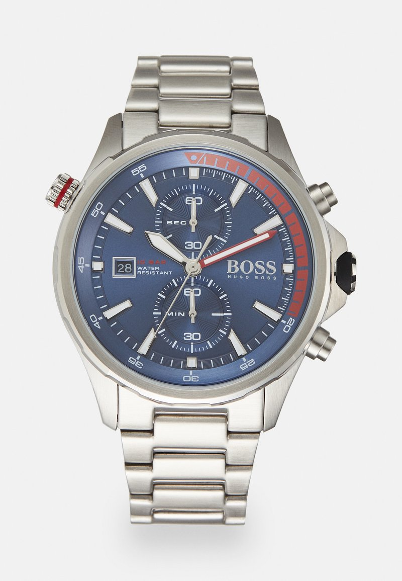 BOSS - GLOBETROTTER - Chronograph watch - silver-coloured