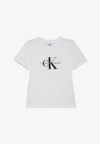 MONOGRAM LOGO - T-shirt med print - bright white