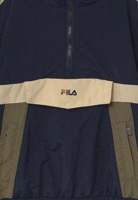 Fila - LAZARO HOODED - Training jacket - black iris-irish cream/grape leaf - 2