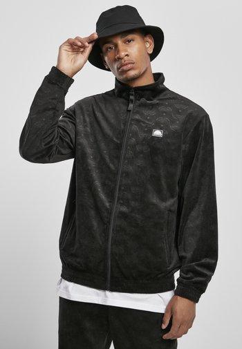 AOP VELOUR - Sportovní bunda - black