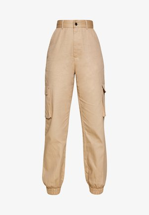 PLAIN CARGO TROUSER  - Cargo trousers - sand