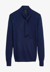 Massimo Dutti - MIT SEITLICHER SCHLEIFE AM AUSSCHNITT  - Sweatshirt - dark blue - 3