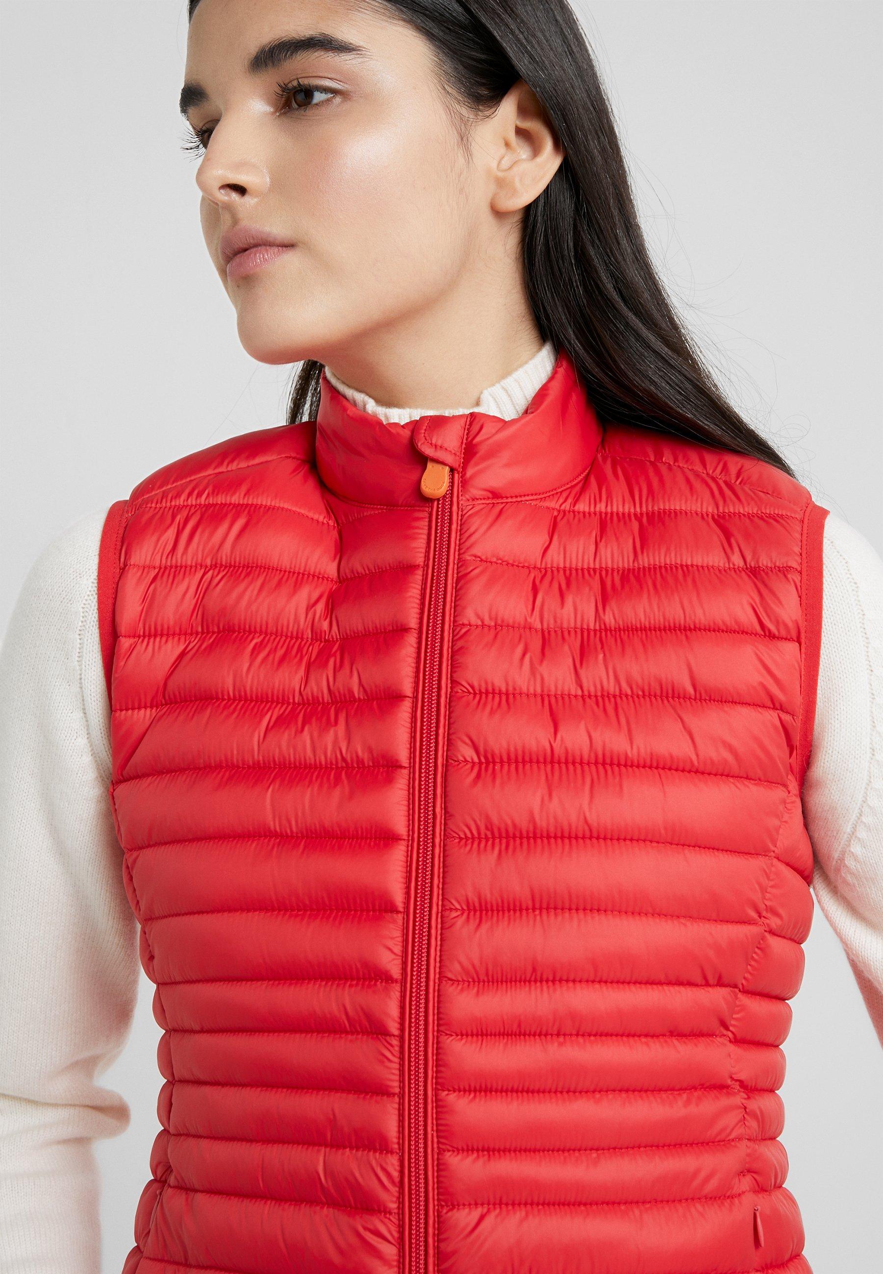 Save the duck GIGAX - Weste - tomato red   Damenbekleidung billig