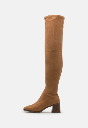 ONLBIJOU LIFE HEELED BOOT - Over-the-knee boots - sand