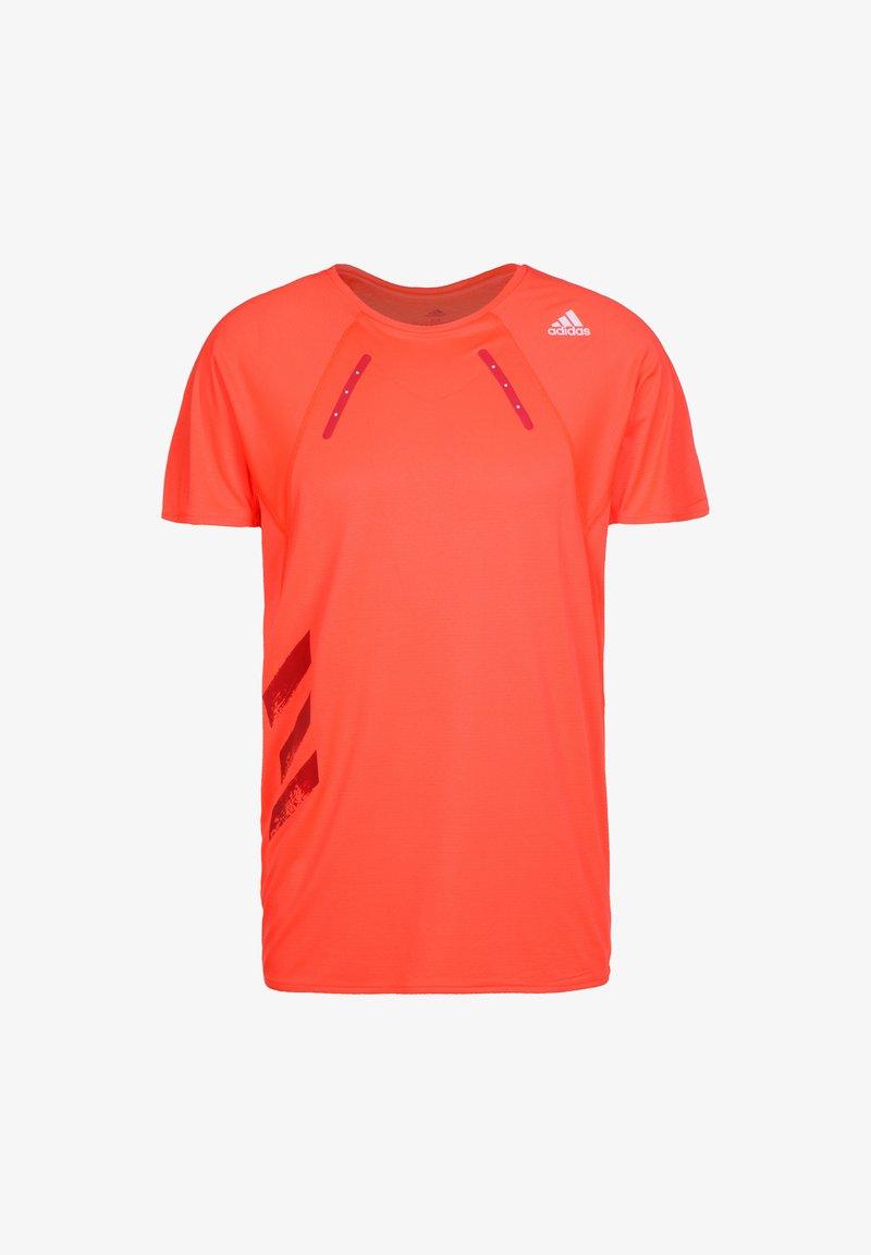adidas Performance - ADIDAS PERFORMANCE HEAT.RDY LAUFSHIRT HERREN - T-shirt print - solar red