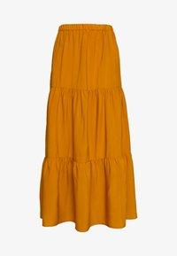 Sisley - SKIRT - Maxi sukně - mustard - 4