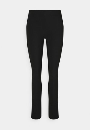 JENNIFER SLIT TROUSERS - Trousers - black