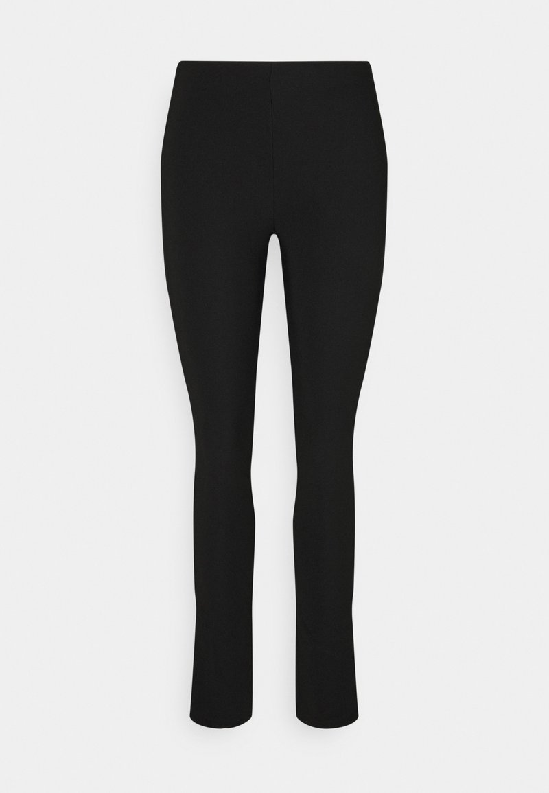 Gina Tricot - JENNIFER SLIT TROUSERS - Trousers - black