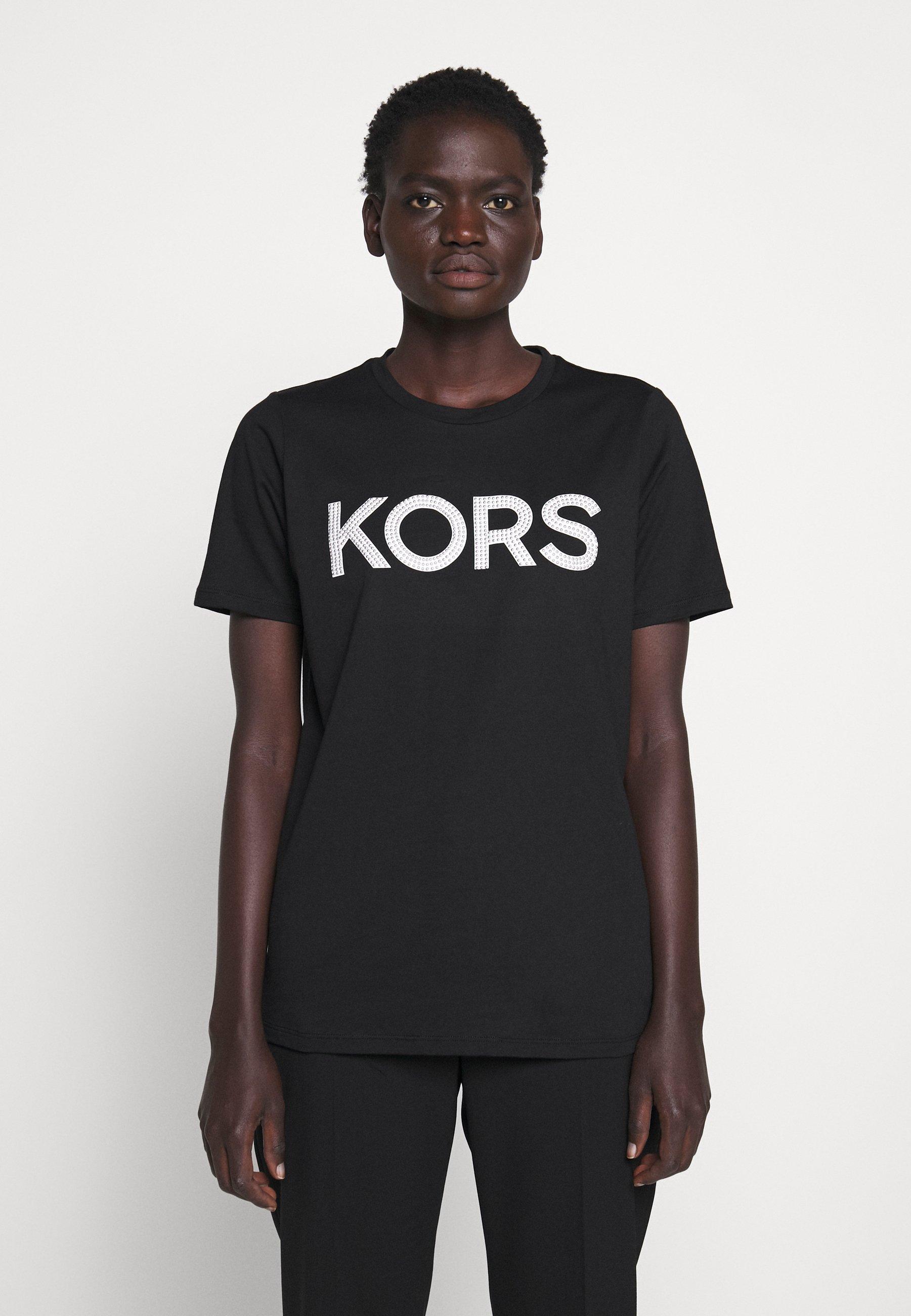 MICHAEL Michael Kors T-shirt con stampa - black/silver - Abbigliamento da donna Per Nizza