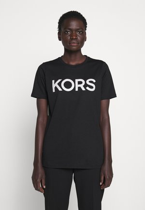 T-shirts med print - black/silver