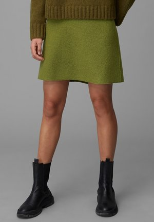 A-line skirt - olive green