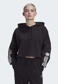 adidas Originals - Jersey con capucha - black/white - 0