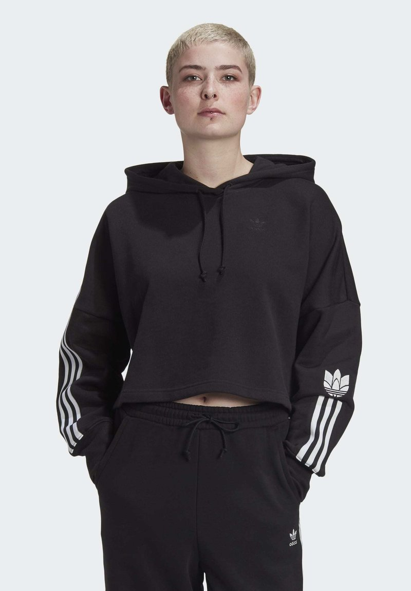 adidas Originals - Jersey con capucha - black/white
