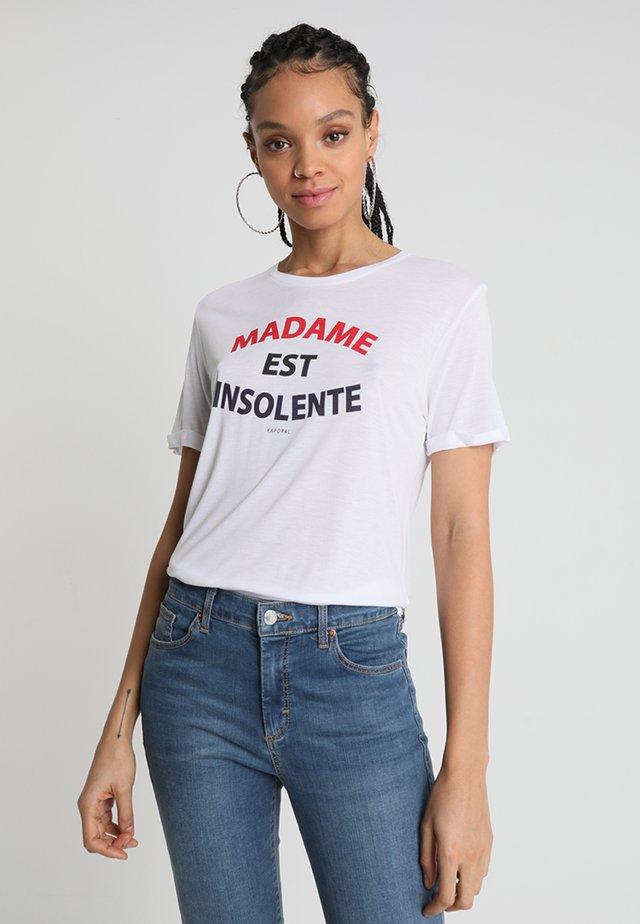 FACTO - Print T-shirt - white