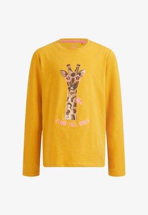 MET PAILLETTEN APPLICATIE - Long sleeved top - yellow