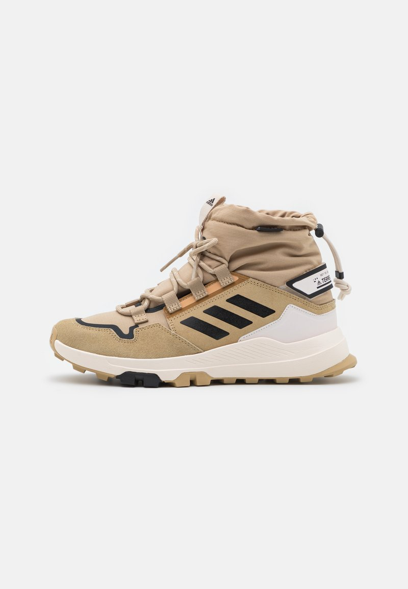 adidas Performance - TERREX HIKSTER MID COLD.RDY - Hiking shoes - beige tone/core black/focus blue