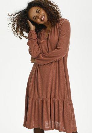 CRKARY - Jersey dress - russet