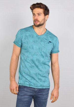 T-shirt print - kale green
