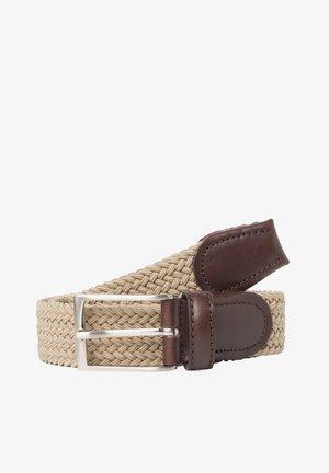 Braided belt - sandbeige
