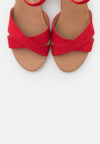 New Look Wide Fit - WIDE FIT YABBY CROSS VAMP LOW WEDGE - Alpargatas - bright red - 5
