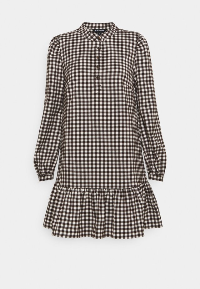 GINGHAM  - Abito a camicia - brown
