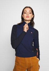 G-Star - NOSTELLE BIKER HALFZIP - Zip-up hoodie - servant blue/mazarine blue - 3