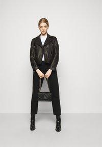 KARL LAGERFELD - IKONIK  BIKER JACKET - Leather jacket - black - 1