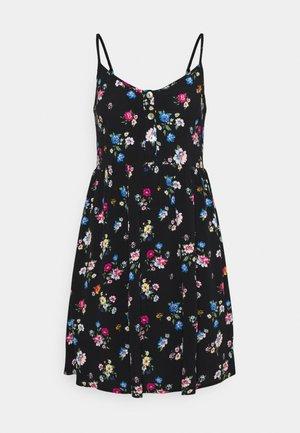 Vestido informal - black/pink