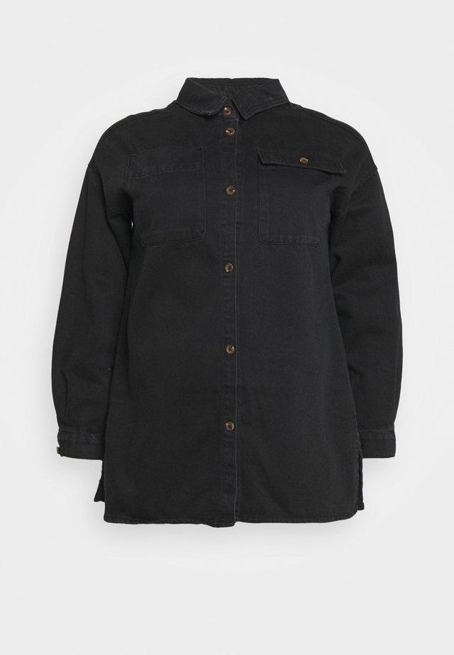 SHACKET - Denim jacket - black