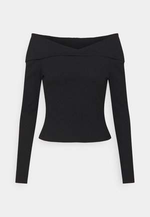 OFF-SHOULDER TOP - Maglietta a manica lunga - black