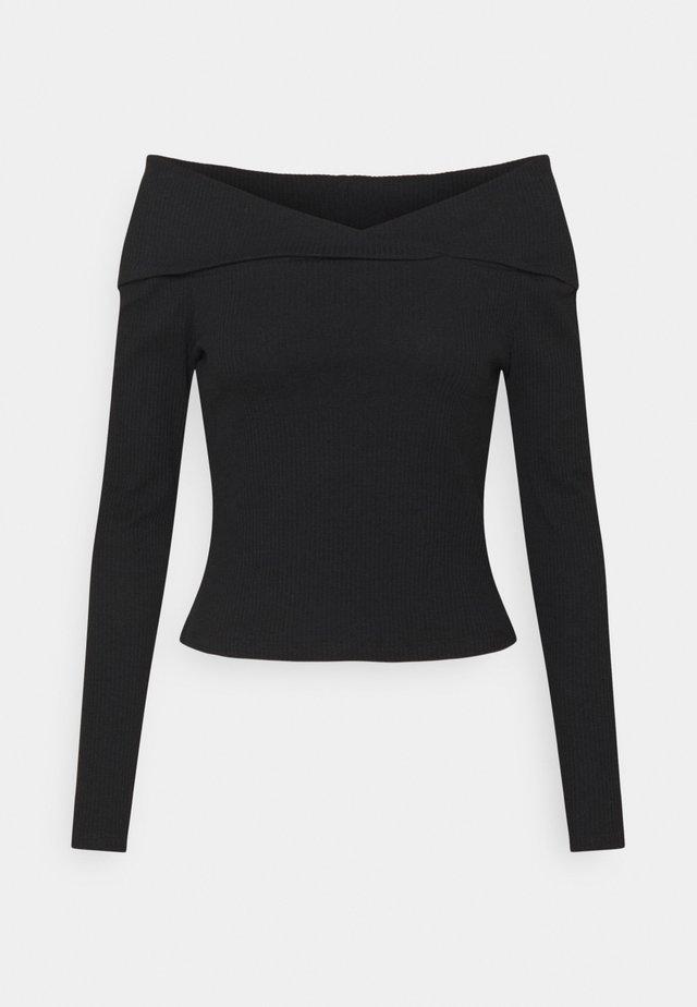 OFF-SHOULDER TOP - Long sleeved top - black