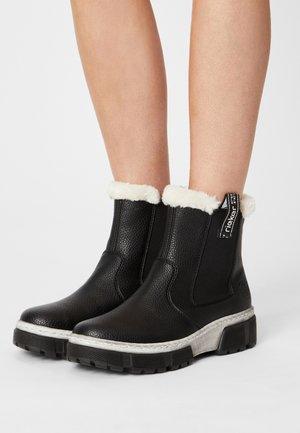 Winter boots - schwarz/bianco