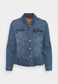 ONLY Petite - ONLALLY FRILL JACKET - Denim jacket - medium blue denim - 0