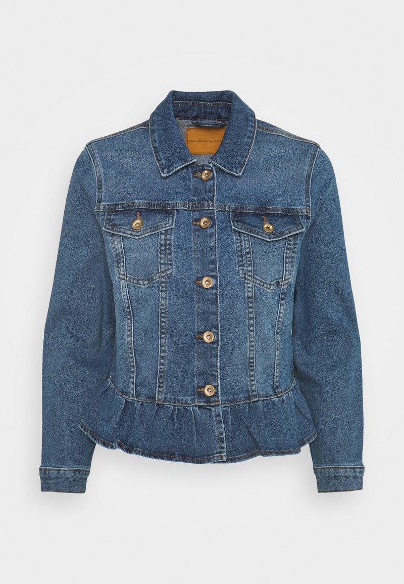 ONLY Petite - ONLALLY FRILL JACKET - Denim jacket - medium blue denim